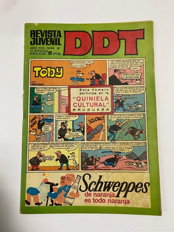 DDT. REVISTA JUVENIL. AÑO XVII. Nº 37. III EPOCA. EDITORIAL BRUGUERA (Tebeos y Comics - Bruguera - DDT)