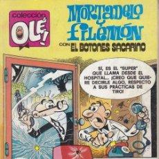 Tebeos: COLECCION OLE - 175 M 140 - MORTADELO Y FILEMON Y EL BOTONES SACARINO - 1ª EDICION - SEPTIEMBRE 1989. Lote 245257050