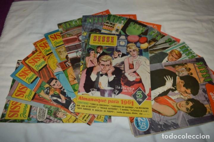 SISSI / 15 REVISTAS / MUY BUEN ESTADO, SIN GUILLOTINA - INCLUYE UN ALMANAQUE / AÑOS 60 ¡MIRA! LOTE 1 (Tebeos y Comics - Bruguera - Sissi)