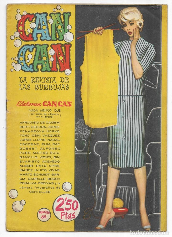 CAN CAN LA REVISTA DE LAS BURBUJAS. Nº- 65 1959 (Tebeos y Comics - Bruguera - Otros)