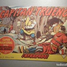 Tebeos: COMIC - EL CAPITAN TRUENO NÚMERO, Nº 154 - ¡ ATRAPADO ! BRUGUERA 14-9-1959, ORIGINAL. Lote 245746555