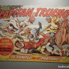 Tebeos: COMIC - EL CAPITAN TRUENO, NÚMERO, Nº 161 - ¡ EL TEMPLO EN EL PANTANO ! BRUGUERA 2-11-1959, ORIGINAL. Lote 245746690
