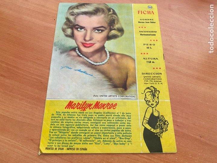SISSI JUVENIL Nº 151 CONTRAPORTADA FICHA MARILYN MONROE (BRUGUERA) (COIB198) (Tebeos y Comics - Bruguera - Sissi)