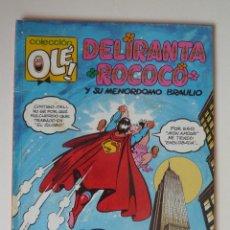 Tebeos: OLÉ Nº 415 DELIRANTA ROCOCÓ Y SU MAYORDOMO BRAULIO, BRUGUERA, PRIMERA EDICION 1992, BUEN ESTADO. Lote 246124360