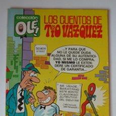 Tebeos: OLÉ Nº 25 EN LOMO, LOS CUENTOS DE TIO VAZQUEZ, PRIMERA EDICION 40 PTS 1971, BUEN ESTADO. Lote 246126780