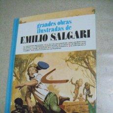 Tebeos: EMILIO SALGARI - GRANDES OBRAS ILUSTRADAS Nº 9 -ED. BRUGUERA - 1ª EDICIÓN. Lote 246154230