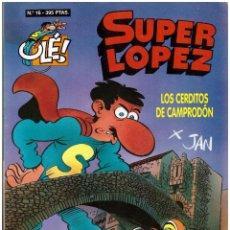 Tebeos: COMIC SUPER LOPEZ - COLECCION OLE, Nº 16: LOS CERDITOS DE CAMPRODON - EDICIONES B. Lote 246186105
