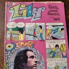 Tebeos: LILY Nº 663 -POSTER: DANIEL VELAZQUEZ + ALICHU DE FAMOSA, ANA Mª BARBANY, FRANCE GALL, MIGUEL RIOS,. Lote 246536640