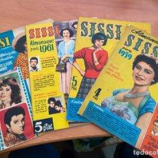Livros de Banda Desenhada: SISSI LOTE 4 ALMANAQUES 1959, 1960, 1961, 1962 (BRUGUERA) (COIB3). Lote 248077010