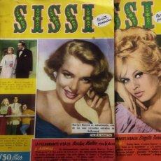 Tebeos: LOTE 6 REVISTA JUVENIL SISSI ESPECIAL BRIGILLE BARDOT Y MARILYN MONROE AÑOS 59-60. Lote 249018560