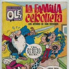Tebeos: COLECCIÓN OLÉ! - LA FAMILIA CEBOLLETA - ED. BRUGUERA - Nº 59 - 1ª EDICIÓN - 1972. Lote 249195100