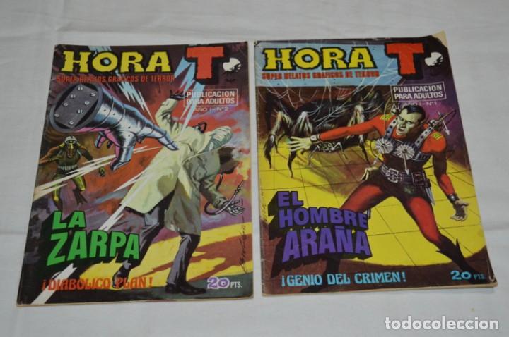 Tebeos: HORA T / BRUGUERA Año 1975 - Completa 12 Números / SPIDER y ZARPA de ACERO - Por JESÚS BLASCO ¡Mira! - Foto 2 - 250231400