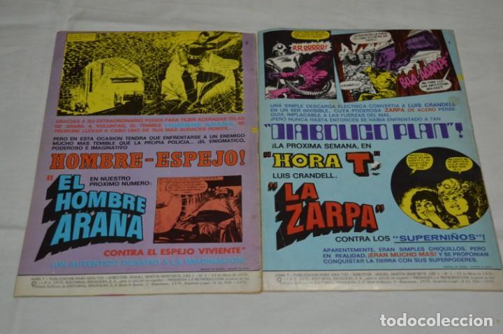 Tebeos: HORA T / BRUGUERA Año 1975 - Completa 12 Números / SPIDER y ZARPA de ACERO - Por JESÚS BLASCO ¡Mira! - Foto 3 - 250231400