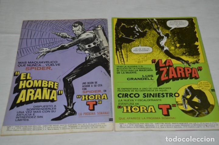Tebeos: HORA T / BRUGUERA Año 1975 - Completa 12 Números / SPIDER y ZARPA de ACERO - Por JESÚS BLASCO ¡Mira! - Foto 10 - 250231400