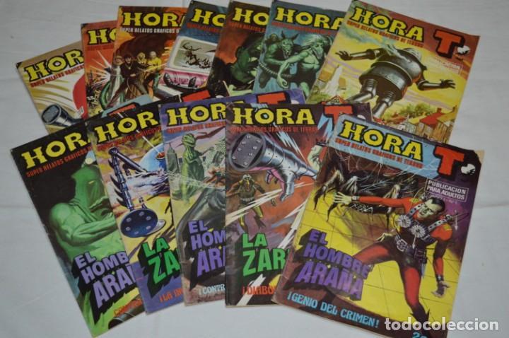 HORA T / BRUGUERA AÑO 1975 - COMPLETA 12 NÚMEROS / SPIDER Y ZARPA DE ACERO - POR JESÚS BLASCO ¡MIRA! (Tebeos y Comics - Bruguera - Otros)