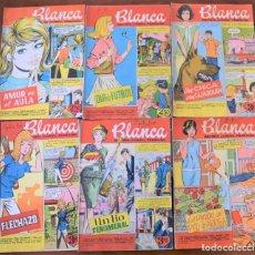 Tebeos: LOTE 6 EJEMPLARES BLANCA REVISTA JUVENIL FEMENINA Nº 73, 76, 78, 81, 85 Y 89 BRUGUERA AÑO 1962. Lote 251348255