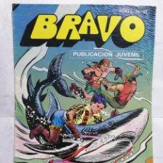 Tebeos: BRAVO, EL CACHORRO, RUFIANES Y TIBURONES, AÑO 1 - Nº 21, 1976, 16 PAGINAS. Lote 251370885