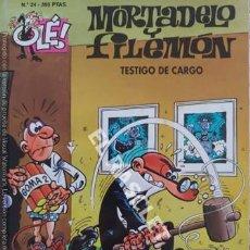 Tebeos: MORTADELO Y FILEMON - TESTIGO DE CARGO - OLÉ - NUMERO 24. Lote 251385250