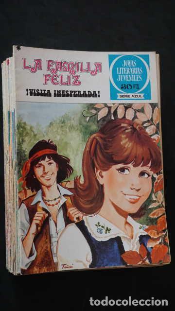 1 EDICION JOYAS LITERARIAS JUVENILES SERIE AZUL NUMERO 21 LA FAMILIA FELIZ ¡ VISITA INESPERADA ! (Tebeos y Comics - Bruguera - Joyas Literarias)