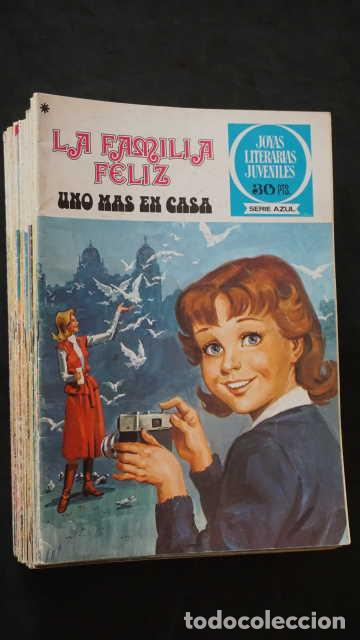 1 EDICION JOYAS LITERARIAS JUVENILES SERIE AZUL NUMERO 24 LA FAMILIA FELIZ UNO MAS EN CASA (Tebeos y Comics - Bruguera - Joyas Literarias)