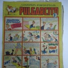 Livros de Banda Desenhada: CUADERNOS HUMORISTICOS. PULGARCITO. Nº 43 HELIODORO HIPOTENUSO SE SIENTE ENFERMO MUY RARO. Lote 251686250