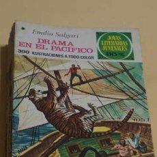 Tebeos: JOYAS LITERARIAS JUVENILES NUMERO 162, EDITORIAL BRUGUERA, DRAMA EN EL PACIFICO. Lote 251880750