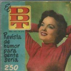 Tebeos: EL DDT Nº 375 - BRUGUERA 1958 - WANDA HENDRIX EN PORTADA. Lote 252036380