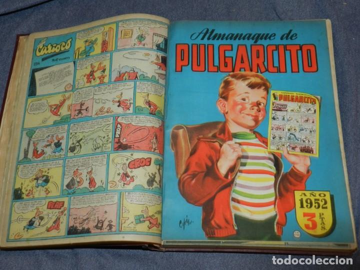 Tebeos: (M9) PULGARCITO DEL NÚMERO 222 AL N. 264 + ALMANAUQE 1952, TOTAL 44 NUMEROS - Foto 2 - 252333840