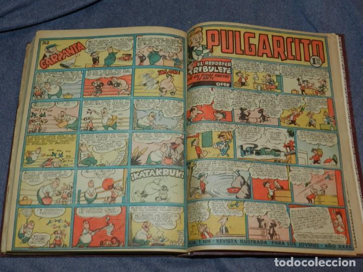 Tebeos: (M9) PULGARCITO DEL NÚMERO 222 AL N. 264 + ALMANAUQE 1952, TOTAL 44 NUMEROS - Foto 4 - 252333840