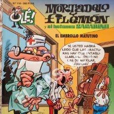 Tebeos: MORTADELO Y FILEMON - EL EMBROLLO MATUTINO -Nº 110 - COLECIÓN OLE. Lote 252432280