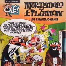 Tebeos: MORTADELO Y FILEMON -LOS ESPANTAJOMANES -Nº 33 - COLECIÓN OLE. Lote 252432555
