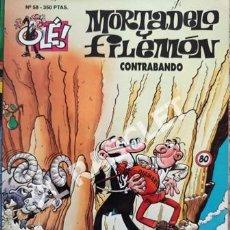 Tebeos: MORTADELO Y FILEMON -CONTRABANDO -Nº 58 - COLECIÓN OLE. Lote 252434015