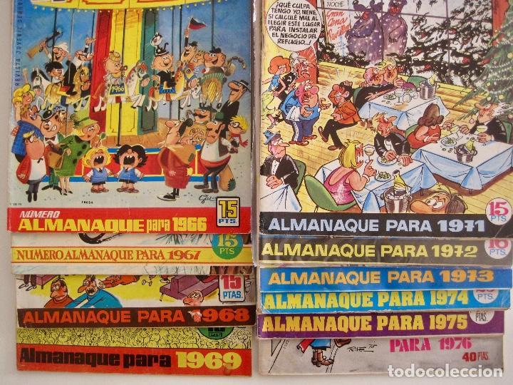TIO VIVO--LOTE 11 ALMANAQUES 1966 1967 1968 1969 1971 1972 1973 1974 1975 1976 1977 --BRUGUERA (Tebeos y Comics - Bruguera - Tio Vivo)