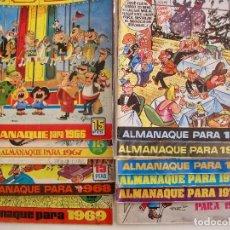 Tebeos: TIO VIVO--LOTE 11 ALMANAQUES 1966 1967 1968 1969 1971 1972 1973 1974 1975 1976 1977 --BRUGUERA. Lote 252583275
