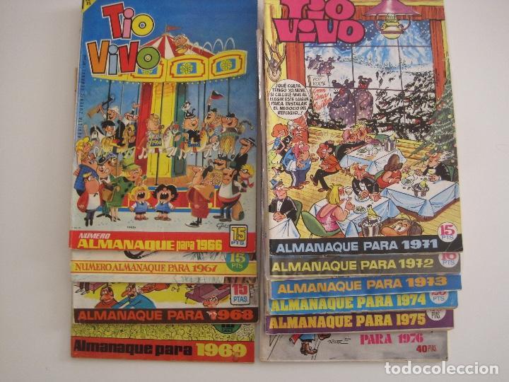 Tebeos: TIO VIVO--LOTE 11 ALMANAQUES 1966 1967 1968 1969 1971 1972 1973 1974 1975 1976 1977 --BRUGUERA - Foto 2 - 252583275