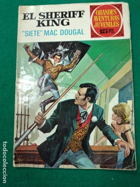 EL SHERIFF KING Nº 22. SIETE MAC DOUGAL. GRANDES AVENTURAS JUVENILES. BRUGUERA, 1ª EDICION 1972 (Tebeos y Comics - Bruguera - Sheriff King)