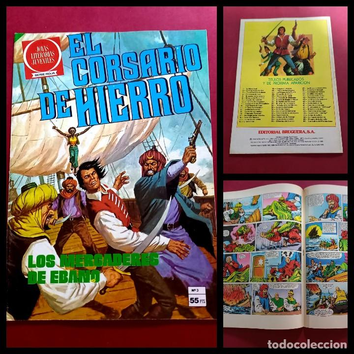 EL CORSARIO DE HIERRO SERIE ROJA Nº 3 -IMPECABLE ESTADO -COMO NUEVO (Tebeos y Comics - Bruguera - Corsario de Hierro)
