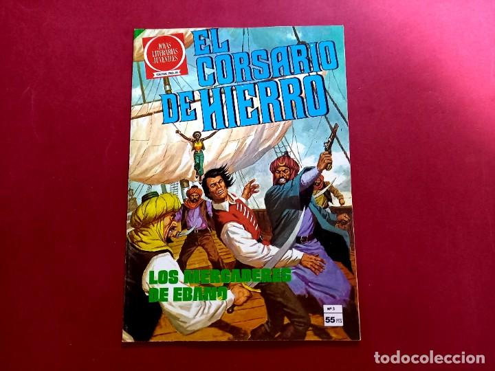 Tebeos: EL CORSARIO DE HIERRO SERIE ROJA Nº 3 -IMPECABLE ESTADO -COMO NUEVO - Foto 2 - 253786120