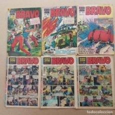 Tebeos: BRAVO REVISTA BRUGUERA LOTE NºS - 2,7,24,29,30,31, GALAX EL COSMONAUTA, MICHEL TANGUY, BLUEBERRY ETC. Lote 253845450