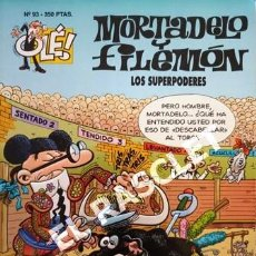 Tebeos: COMIC - MORTADELO Y FILEMON - Nº 93 - LOS SUPERPODERES -. Lote 253851060