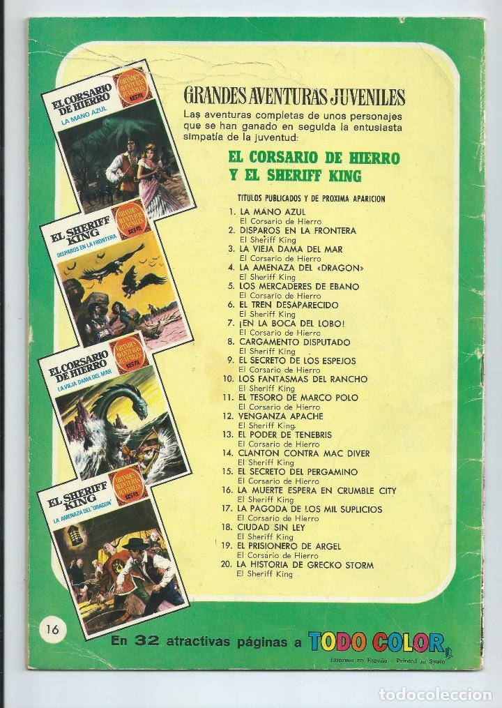 Tebeos: GRANDES AVENTURAS JUVENILES : EL SHERIFF KING Nº 16. LA MUERTE ESPERA EN CRUMBLE CITY. 1ª EDICION. - Foto 2 - 254229540