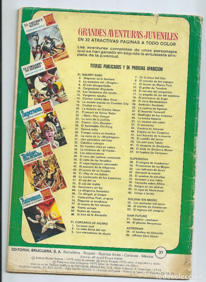 Tebeos: GRANDES AVENTURAS JUVENILES : EL SHERIFF KING Nº 31. UNA PERIODISTA DEL ESTE 2ª EDICION. 1975 - Foto 2 - 254230185
