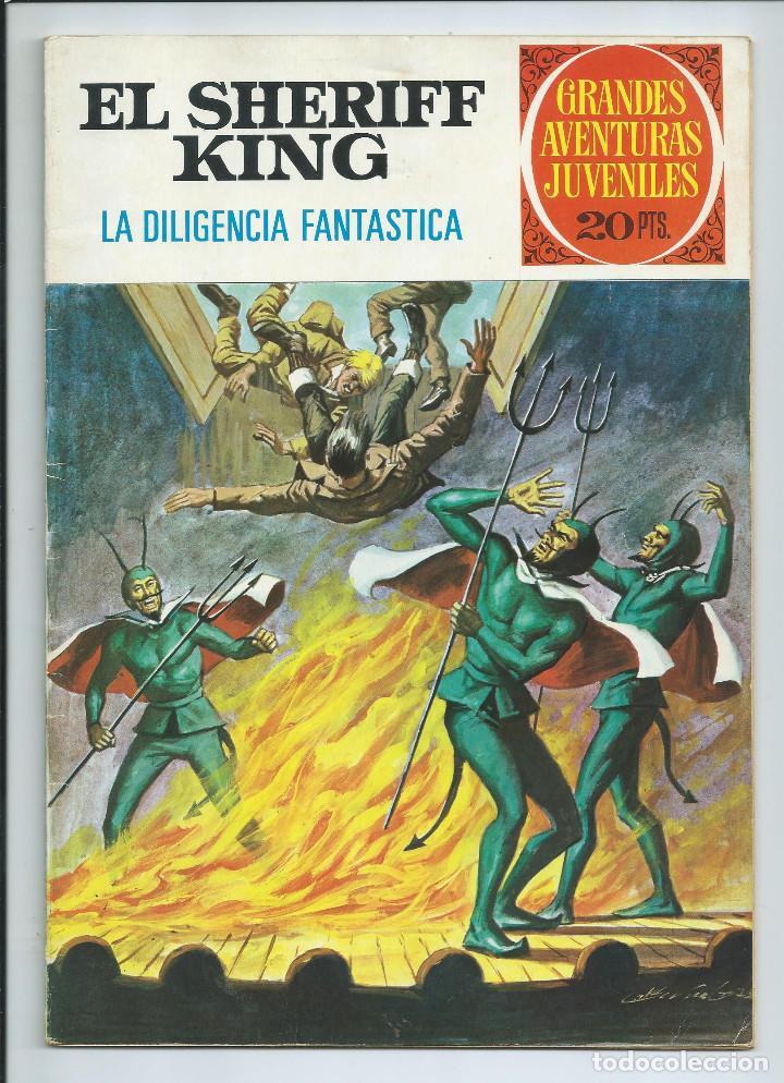 GRANDES AVENTURAS JUVENILES : EL SHERIFF KING Nº 64. LA DILIGENCIA FANTASTICA. 1ª EDICION. 1975 (Tebeos y Comics - Bruguera - Sheriff King)