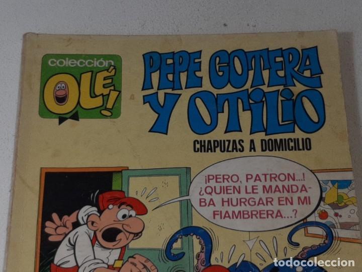 Tebeos: COLECCION OLE : PEPE GOTERA Y OTILIO Nº 1 LOMO CHAPUZAS A DOMICILIO 3ª EDICION AÑO 1977 ED. BRUGUERA - Foto 3 - 254395255