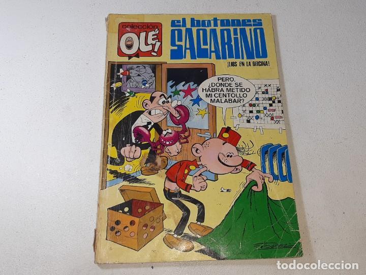 Tebeos: COLECCION OLE : EL BOTONES SACARINO Nº 3 LOMO - LIOS EN LA OFICINA 2ª EDICION AÑO 1972 ED. BRUGUERA - Foto 2 - 254396870