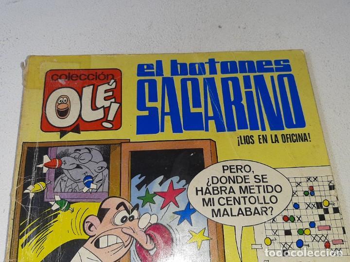 Tebeos: COLECCION OLE : EL BOTONES SACARINO Nº 3 LOMO - LIOS EN LA OFICINA 2ª EDICION AÑO 1972 ED. BRUGUERA - Foto 6 - 254396870