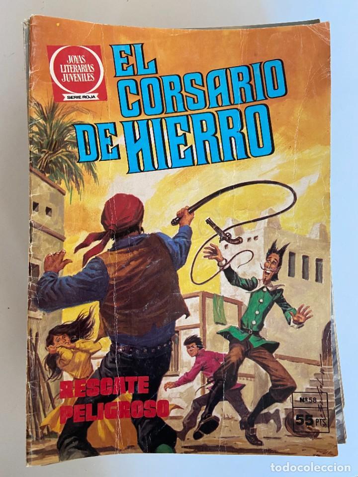 Tebeos: Colección completa de El corsario de Hierro de Bruguera - Joyas Literarias Juveniles serie Roja - Foto 2 - 254479460