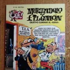 Livros de Banda Desenhada: COMIC DE OLE MORTADELO Y FILEMÓN EN OBJETIVO ELIMINAR AL RANA DEL AÑO 1996 Nº 30. Lote 254859480