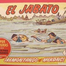 Tebeos: EL JABATO - Nº 285 - REMONTANDO EL MEKONG - SUPERAVENTURAS Nº 829 1964 ORIGINAL. Lote 254952775