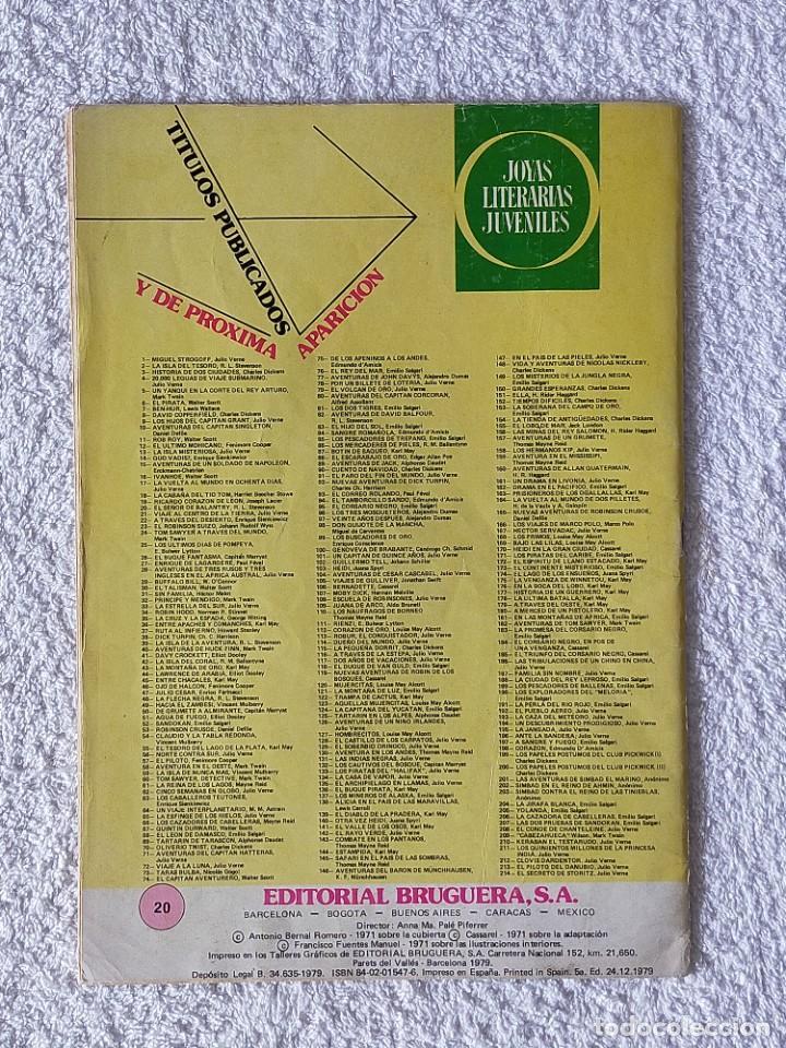 Tebeos: JOYAS LITERARIAS JUVENILES. Nº 20: EL SEÑOR DE BALANTRY - 5º Edición 1979 - EDITORIAL BRUGUERA - Foto 4 - 255000865